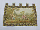 Vintage French Romantic Scene Wall Hanging Tapestry (150X94cm)
