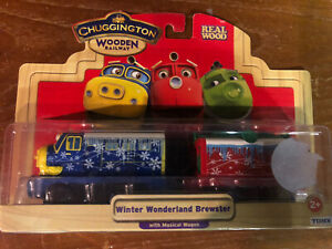 Tomy Chuggington Wooden Railway Winter Wonderland Brewster BNIB