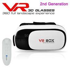 2nd 3D VR Box Virtual Reality Videobrille Brille Gamepad für Android Samsung IOS