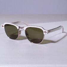 Occhiali da sole Polaroid Lookers 8768C, celluloide bianco/metallo , lenti verde