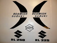 Beamish Suzuki tank & side panel Decals-Trials, Twinshock Suzuki