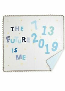Art Walk The Future is Me Month Baby Blanket  (Blue)  ($220) w/tax