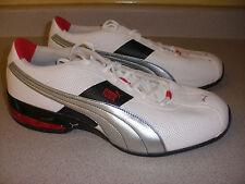 MEN'S Puma Shoes Size 11 WHITE RED BLACK SILVER