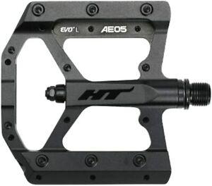 "HT Components Stealth Black AE05 Evo Bike Pedals Pair 9/16"""