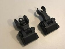 Troy Airsoft Metal Micro Flip-Up Battle Front Rear Iron Sight for Picatinny Rail