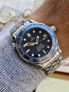 Omega Seamaster 300m 36mm Blue Dial Automatic men Set Vintage watch Box Papers