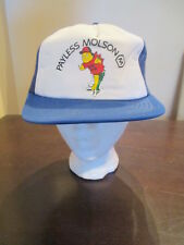 Vintage Molson Beer Snapback Trucker Hat Cap Big Fish Logo Mesh Fishing