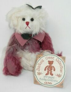"""Barton's Creek Collection Gund HOLLY Bear - Holiday Creations Jointed LE 7"""" NWT"""