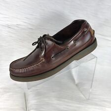Sperry Top-Sider Mens Mako Collection Boat Shoes Brown Leather Size 11.5 M