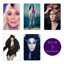 Cher Fridge Magnets Set of 5 NEW Dressed to Kill D2K Tour Closer to the Truth