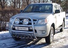 PARE BUFFLE TOYOTA HILUX 2006-2016 NONHOMOLOGUE INOX DIA 60mn, avec grille