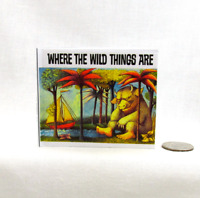 WHERE THE WILD THINGS ARE Illustrated Readable Book 1:3 Scale Miniature Book