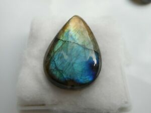 A Labradorite cabochon for jewellery making Pear shape 28x19x6.7mm