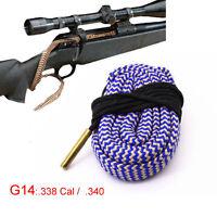 Xhunter Bore Snake .338 Cal .340 Boresnake Cleaning Kit Rifle Brush Cleaner G14