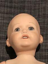 """Bisque Jdk 16"""" Hilda Baby Doll 1914 Kestner Reproduction"""