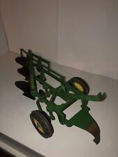 Vintage 1965 John Deere 4 Bottom Pull Type Plow Toy 1/16 Ertl Tractor Accessory