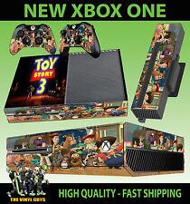Etiqueta engomada de la consola XBOX ONE Toy Story 3 Buzz Lightyear Woody Piel y 2 Pad Skins