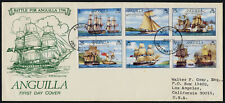 Anguilla 259-64 on addressed FDC - Sailing Ships, Battle for Anguilla