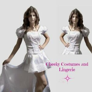 White Snow Queen Princess Fancy Dress Costume Size 12 and 8-10