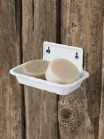 Nostalgie Seifenschale aus Emaille 2-teilig m.Einsatz IB Laursen Seifenablage