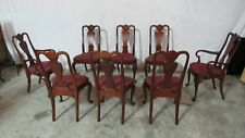 Set Councill Dining Room Chairs Mahogany Eight Queen Anne
