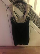 Karen Millen Black Gold Pencil Dress Size 10