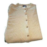 Patagonia Cardigan Sweater Womens Medium Camel  Merino Wool With Issues 50457