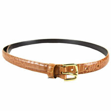 NEW Marc by Marc Jacobs Croc Embossed Leather Belt Rust One Size