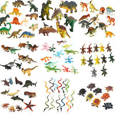 Lot Plastic Zoo Figure Jungle Wild Animals Bugs Insects Kids Toy Party Bag Favor