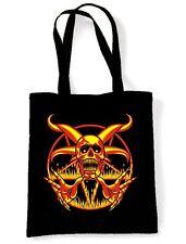 PENTAGRAM SKULL SHOULDER BAG - Goth Gothic Pagan Magick Satan Satanic