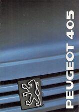Peugeot 405 Saloon 1988-89 UK Market Smaller Format Brochure Mi16 GTX SRi GR GL
