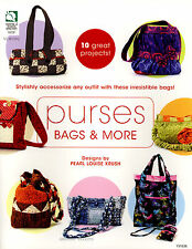 Purses Bags and More BOOK  -  Handbags Totes Organizer sewing quilting pattern