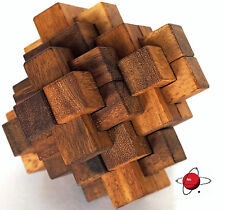 NOTCH & KEY - BIG Wood Puzzle Brain Teaser Wooden NEW Rompecabeza Noggin Busters