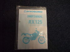 Hyosung RX125 XRX125 Owner's Manual in English, many pictures and diagrams