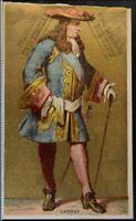 CHROMO DORÉ CATINAT DE LA FAUCONNERIE ARMÉE RHIN 1890 CARTE VICTORIAN TRADE CARD
