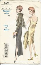 Vogue Sewing Pattern 5675, Vintage Evening Dress and Jacket, Size 12, Bust 32""
