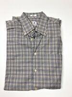 Peter Millar Large Plaid Button Down Shirt L/S Cotton Men's