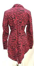 """Punk  Gothic Girls Red Animal Print Tail Jacket Corseted Pockets Size 38/40"""""""