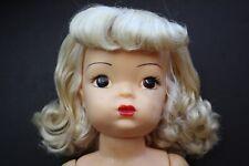 50's Terri Lee Long Platinum Blonde Hair tagged Terri Lee Brownie Original Shoes