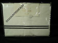 FRETTE HOTEL CLASSIC KING PILLOWCASE WHITE BLACK EMBROIDERY 1 CASE NEW