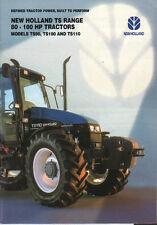 "New Holland ""TS Range"" 80 - 100hp Tractor Brochure Leaflet"