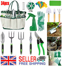 More details for stainless garden tools set home gardening kit trowel gardening hand tools 34pcs