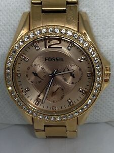 Fossil ES2811 Women's Stainless Steel Analog Rose Gold Dial Quartz Watch Aa423