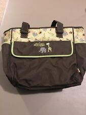 Baby Boom Infant Diaper Bag In Excellent Condition Brown W/Elephants &Giraffes
