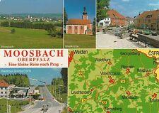 AK MAP, Landkarte, Umgebungskarte **MOOSBACH / OBERPFALZ**