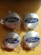 4x SILVER FORD 54MM ALLOY WHEEL CENTRE CAPS