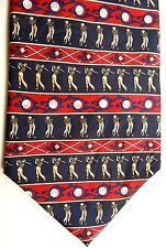 "Museum Artifacts Men's Sports Novelty Silk Tie 58"" X 4"" Golf"