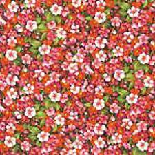 SALE!!! Metre of Asian Garden Floral Print 100% Cotton Print Fabric - 25691