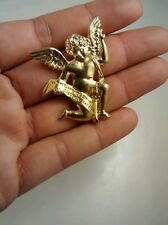 Stunning the Vatican library collection angel cherub pin brooch