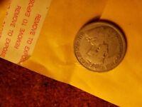 1935 Canada 25 Cents Silver Coin.